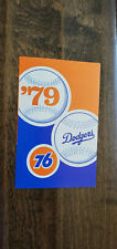 1979 UNION 76 UNICAL LOS ANGELES DODGERS BASEBALL POCKET SCHEDULE SKED