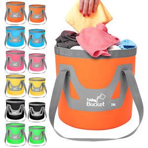 12L/20L Folding Water Bucket Fishing Hiking Camping Picnic Washing Storage Bag