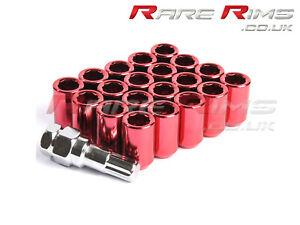 20 x Red Tuner Wheel Nuts M12x1.5 Fits Honda Civic EG EK EP3 EK9 FN2 TYPE R