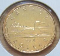 1995 Canada One Dollar Coin. (UNC. Loonie)