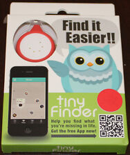 tinyFinder, Mini Bluetooth Device for Lost and Found, Brand NEW, Red / White