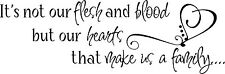 FLESH AND BLOOD HEARTS FAMILY Vinyl Lettering Words Wall  Decal Decor Sticker