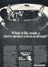 1969 Panasonic FM Radio Stereo - Classic Vintage Advertisement Car Ad J18