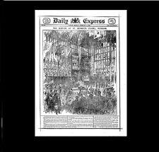 Dollshouse Miniature Newspaper - Daily Express- Funeral of Queen Victoria 1901