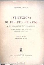 ISTITUZIONI DI DIRITTO PRIVATO Vol I Amsicora Cherchi Diritto Giuridica Manuale