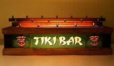 TIKI BAR BEER Tap handle display HOLDS 18 taps on 3 levels BRIGHT LED BAR SIGN
