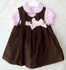 First Impressions 2PC Corduroy Tunic Dress and Bodysuit 3-6 Mo. NWT G82530