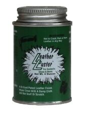 Leather Luster Black Military Polish High Gloss 4 oz for Boots Shoes Belts More