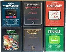 VINTAGE ATARI 2600 GAMES LOT OF 6 STARMASTER ~ BERZERK ~ FREEWAY ~ SPACE INVADER