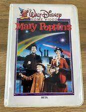 Disney's Mary Poppins Betamax Cassette Tape 1980 Julie Andrews & Dick Van Dyke
