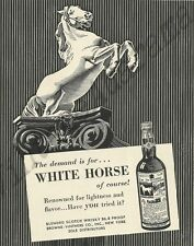White Horse Scotch Whisky Original 1954 Vintage Black & White Print Ad