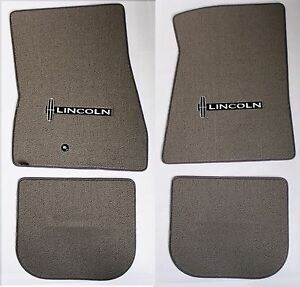 NEW! Grey Floor mats 1998-2010 Lincoln Town Car Embroidered star Logo Set of 4
