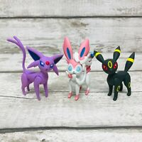 Nintendo Tomy Pokemon Umbreon, Sylveon & Espeon Action Pose Figures Bundle Rare