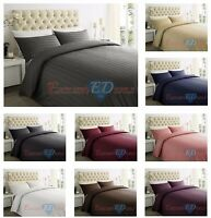 250TC 100% EGYPTIAN COTTON SATEEN STRIPE Duvet Quilt Cover Bedding Set All Sizes