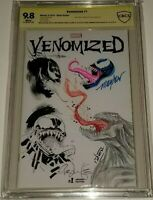 Venomized #1 BLANK CBCS 9,8 ORIGINAL ART JAM PIECE VENOM JAE LEE MAYHEW LEONARDI
