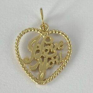 9ct Gold I Love You Pendant 2g