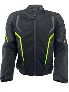 Motorbike Jacket Mens Summer Air Mesh Biker Armoured Motorcycle Textile Coat CE