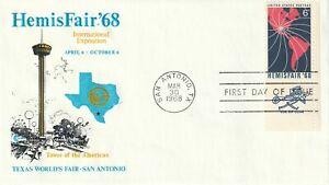 1968 USA FDC cover Hemis Fair`68 San Antonio TX