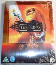 THE LION KING New 3D & 2D Blu-Ray STEELBOOK Lenticular magnet Region-Free Disney