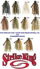 Strike King Jigs Tour Grade Football Pick Any Color Size TDJ Bait
