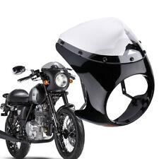"Retro 7"" Universal Headlight Cafe Racer Handlebar Fairing Screen Windshield UK"