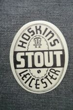 MINT HOSKINS LEICESTER STOUT BREWERY BOTTLE LABEL
