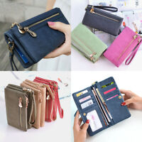 Girl Women Zipper Leather Clutch Wallet Long Card Holder Purse Handbag Bag Gift