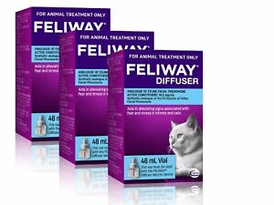 Feliway 48mL Diffuser Refill 3 Pack - Constant Calming and Comfort for Cats