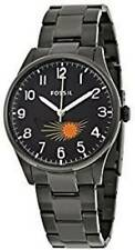 Men's Black Fossil The Agent Moonphase Watch FS4849 BNWT