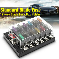 12 Way Terminals Circuit Car Boat Bus ATC ATO Blade Fuse Box Block Holder 32V US
