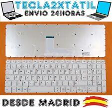 TECLADO PARA PORTATIL Toshiba Satellite L50-B-1LG EN ESPAÑOL BLANCO WHITE NUEVO