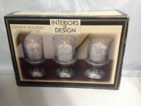 Interiors Design Candle Holders 3 Piece Set Silver Bases Live Well Laugh Often