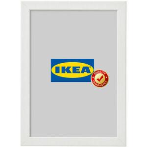 IKEA FISKBO Bilderrahmen 21x30 cm weiß A4 Fotorahmen Bilder Foto Rahmen NEU (S)