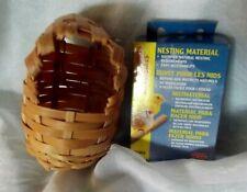 New listing Natural Bamboo Wicker Nesting Breeding House Box Nesting Materials