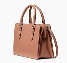 🌸 NWT Kate Spade Mulberry Street Lise Pebble Leather Satchel Tawny NEW
