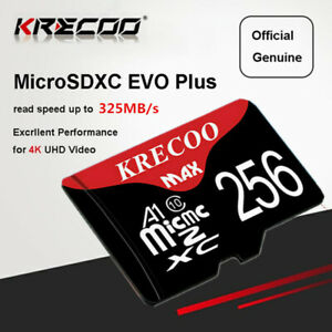 Micro Memory SD Card 256GB SDXC TF Card 325MB/s Class10 for Smartphones Tablets