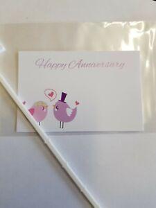 Florist Flower, Message card. Happy Anniversary.