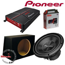 "Pioneer TS-A250S4 10"" Subwoofer Bass Deal 1300 Watts GM-A5702 Amplifier Package"