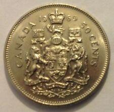 Canada 50 CENTESIMI - 1969 Half-DOLLAR-circolata-spedizione in tutto il mondo