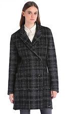 BNWT womens DIESEL WOOL check jacket coat warm size S uk 10 RRP. £290.