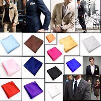 Men/'s Pocket Hanky Plain Color Wedding Party Square Hankerchief Light Blue Y5M2