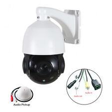 HD 1080P 20X Optical Zoom CCTV PTZ IP Camera Outdoor Pan Tilt Audio + Microphone