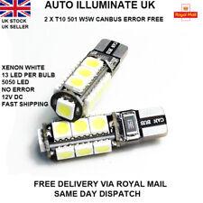 RENAULT MEGANE III MK3 08-15 2x T10 2 LED BRIGHT WHITE BULBS SIDELIGHTS 501 W5W