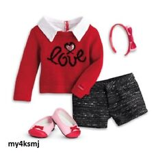 American Girl Grace's CITY OUTFIT Red Sweater Grace DOLL NOT INCLUDED shipsTODAY