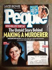 DAVID BOWIE People Magazine January 2016 Making A Murderer