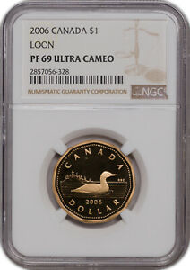 2006 CANADA $1 LOON PF 69 ULTRA CAMEO NGC FINEST KNOWN