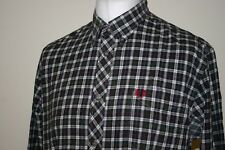 Fred Perry Green / Red / Grey Tartan Check Flannel Shirt Size XL Workwear Top