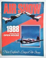Vintage 1988 HANSCOM Air Force Base AFB AIR SHOW Program Thunderbirds RARE
