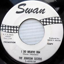 JOHNSON SISTERS Girl Group POPCORN promo 45 Take My Heart I Do Believe Him F3064
