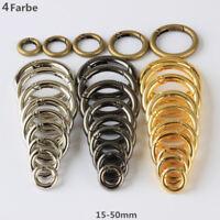 10-500Stck Rund Schnapphaken Karabinerhaken Verbinder Schlüssel Ring 4 Farbe